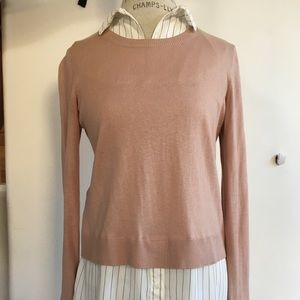 💕Ann Taylor Loft Thin Sweater w/ Collar & Sleeves